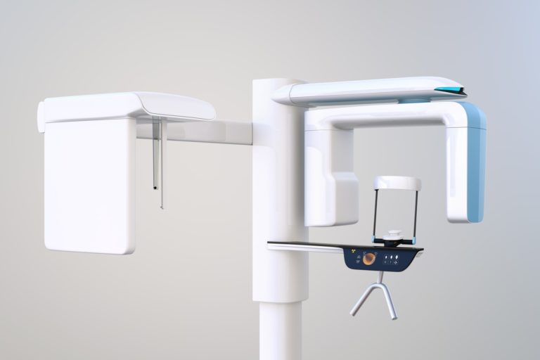 Capital Dental Cone Beam Tomography Xray Device that creates a highly detailed 3D image of your mouth to accurately design your dental treatment plan.