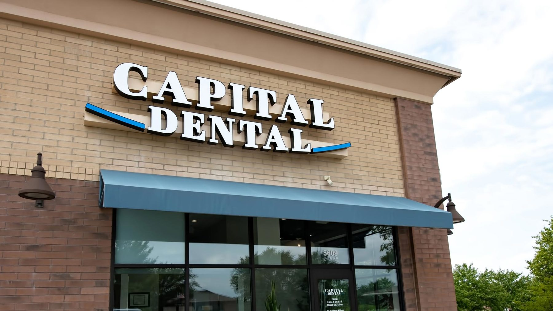 Exterior of the Capital Dental office in Lincoln, Nebraska