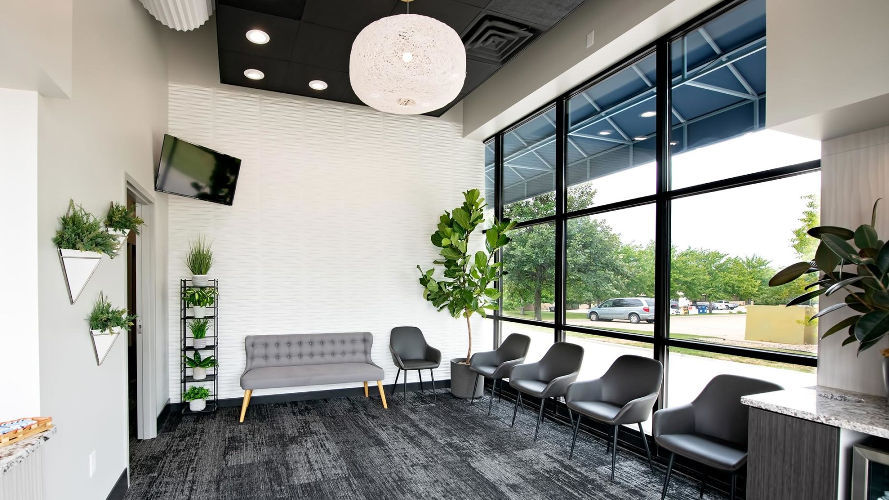 The lobby of Capital Dental in Lincoln, Nebraska